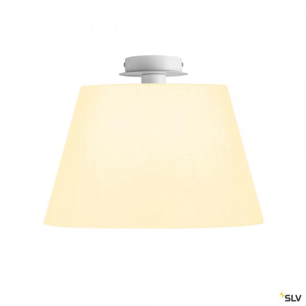 SLV 155551 + 156181 Fenda, Deckenleuchte, weiß, Ø45,5cm, E27, max.60W