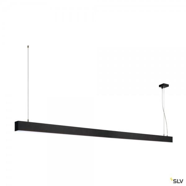 SLV 1001409 Glenos, Pendelleuchte, schwarz matt, dimmbar 1-10V, LED, 85W, 4000K, 6600lm