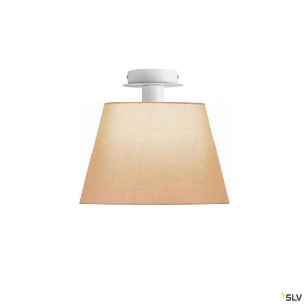 SLV 155551 + 156163 Fenda, Deckenleuchte, weiß/beige, Ø30cm, E27, max.60W