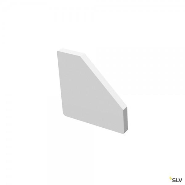 SLV 1004894 Grazia 10 Edge, Endkappen, weiß, 2 Stück