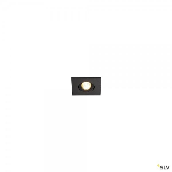 SLV 114400 New Tria Mini Set, Deckeneinbauleuchte, schwarz matt, IP44, LED, 4,4W, 3000K, 143lm