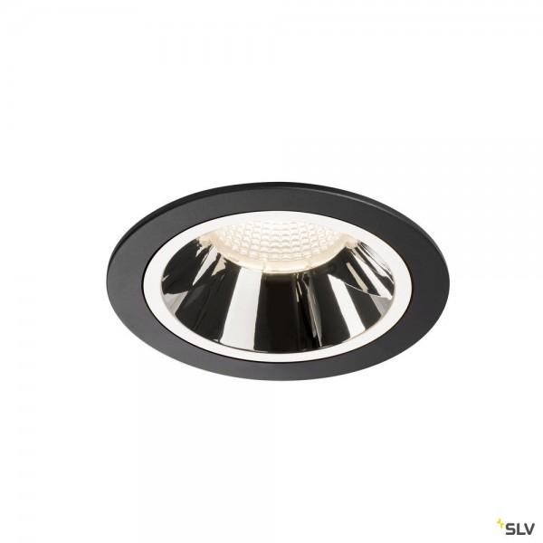 SLV 1003963 Numinos L, Deckeneinbauleuchte, schwarz/chrom, LED, 25,41W, 4000K, 2350lm, 20°