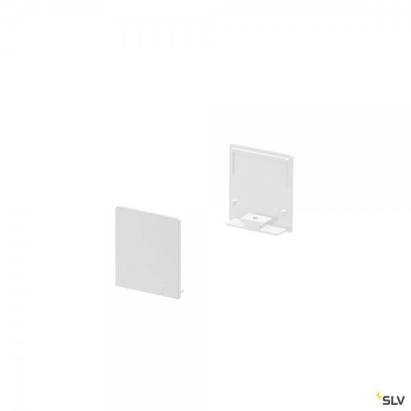 SLV 1000563 Grazia 20, Endkappen, weiß, hoch, 2 Stück