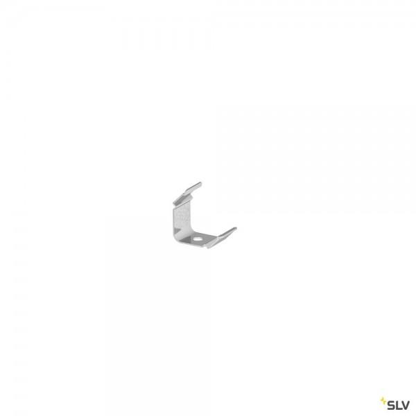 SLV 1000489 Grazia 10, Montageclip, 45°, Edelstahl, sichtbar, 3 Stück