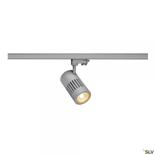 SLV 1000994 Structec, 3Phasen, Strahler, silbergrau, LED, 35W, 3000K, 3200lm, 36°