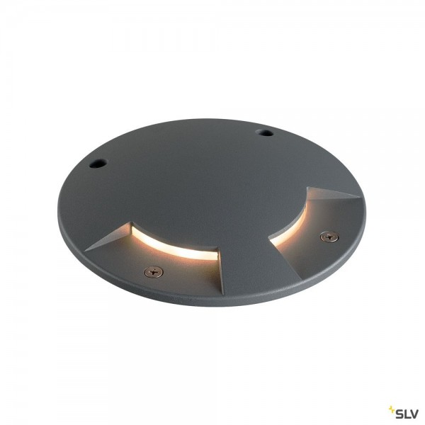 SLV 1001256 + 1001262 Big Plot, Bodenleuchte, IP67, anthrazit, LED, 5,5W, 3000K, 460lm