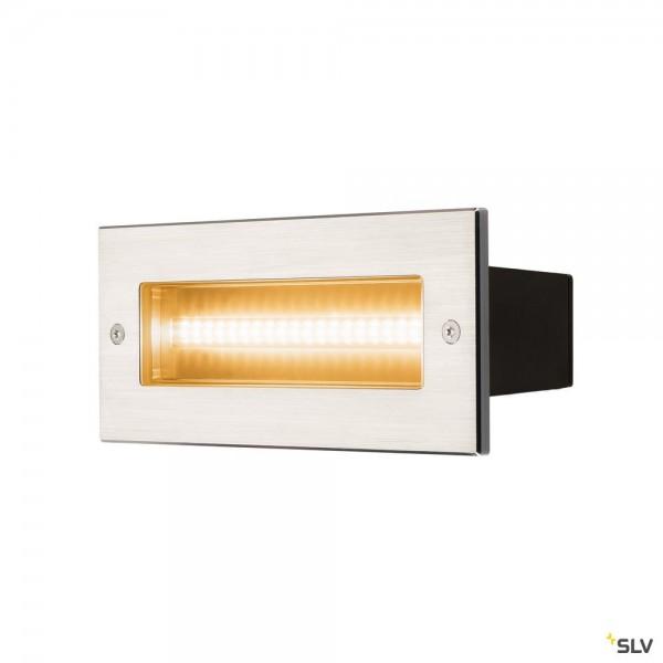 SLV 233650 Brick, Wandeinbauleuchte, Edelstahl, IP65, LED, 11W, 3000K, 950lm