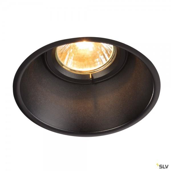 SLV 113140 Horn-T, Deckeneinbauleuchte, schwarz matt, QPAR51, GU10, max.50W