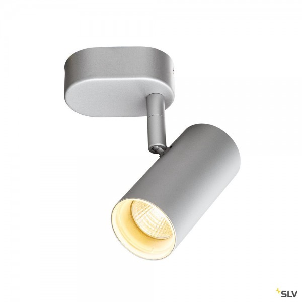 SLV 1002971 Noblo I, Strahler, silbergrau, dimmbar L, LED, 8W, 2700K, 600lm