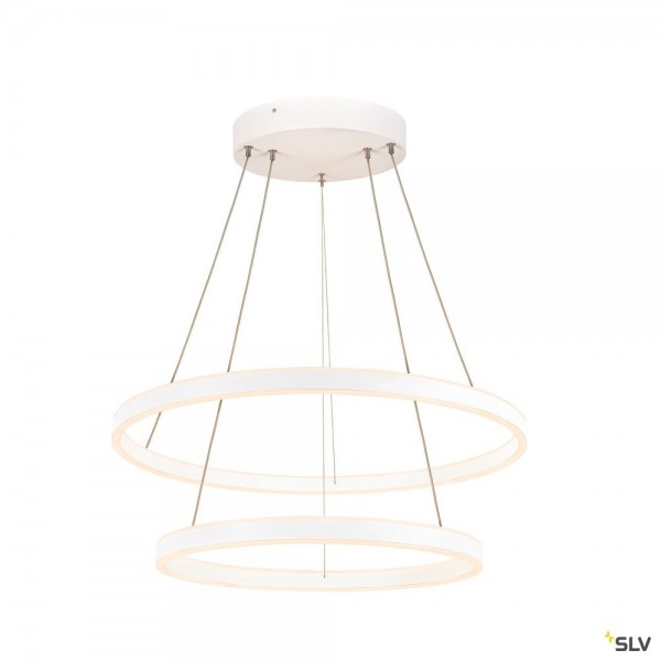 SLV 1004768 One Double, Pendelleuchte, up&down, weiß, dimmbar Dali, LED, 55W, 3000/4000K, 1270lm