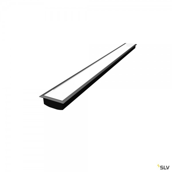 SLV 1004905 Grazia 60, Einbauprofil, schwarz, B/H/L 8,6x3,3x150cm, LED Strips max.B.2cm