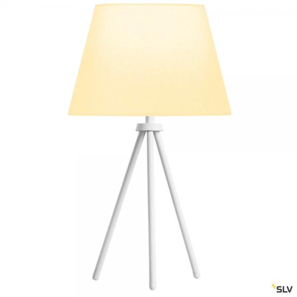 SLV 1003032 + 156161 Fenda, Tischleuchte, weiß, Ø30cm, E27, max.40W