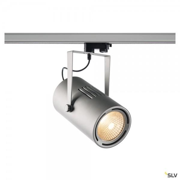 SLV 1001479 Euro Spot, 3Phasen, Strahler, silbergrau, LED, 61W, 3000K, 5500lm, 38°