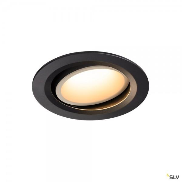 SLV 1003650 Numinos Move L, Deckeneinbauleuchte, schwarz/weiß, LED, 25,41W, 3000K, 2300lm, 20°