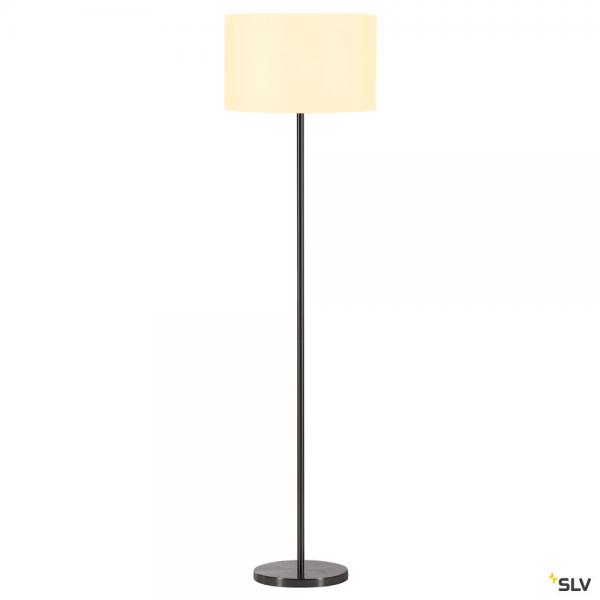 SLV 155795 + 156111 Fenda, Stehleuchte, metall gebürstet/weiß, Ø45,5cm, E27, max.60W