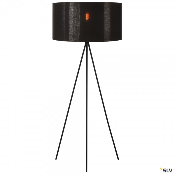 SLV 155490 + 1000580 Fenda, Stehleuchte, schwarz/kupfer, Ø70cm, E27, max.40W