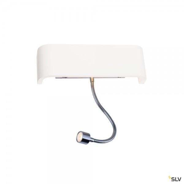SLV 1000615 + 1000825 Mana 200, Wandleuchte, Gips, weiß, Schalter, up&down, LED, 11W, 3000K, 490lm