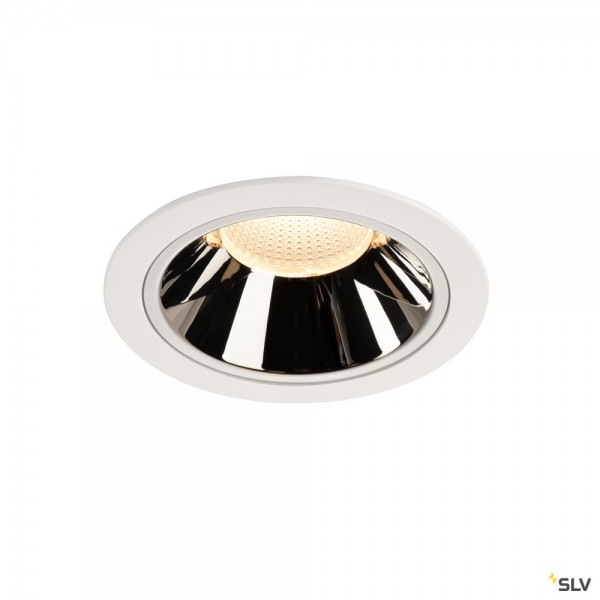 SLV 1004029 Numinos XL, Deckeneinbauleuchte, weiß/chrom, LED, 37,4W, 3000K, 3500lm, 55°