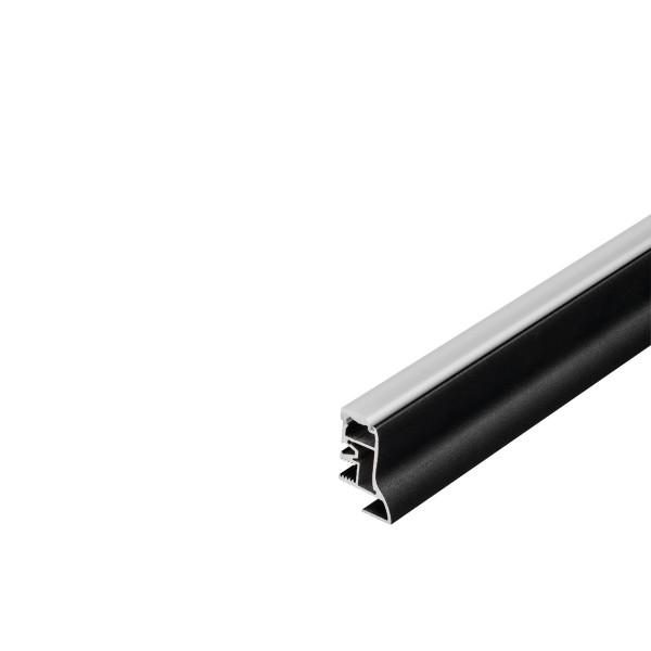 SLV 214000 Glenos, Fußleistenprofil, schwarz matt, B/H/L 2,3x4x100cm, LED Strips max.B.1,2cm