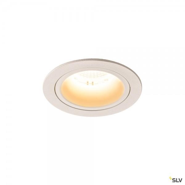 SLV 1003878 Numinos M, Deckeneinbauleuchte, weiß, LED, 17,55W, 3000K, 1600lm, 20°
