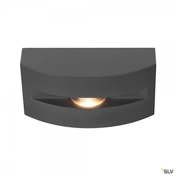 SLV 1003518 Out-Beam Frame, Wand- und Deckenleuchte, anthrazit, IP55, LED, 3,5W, 3000K, 60lm