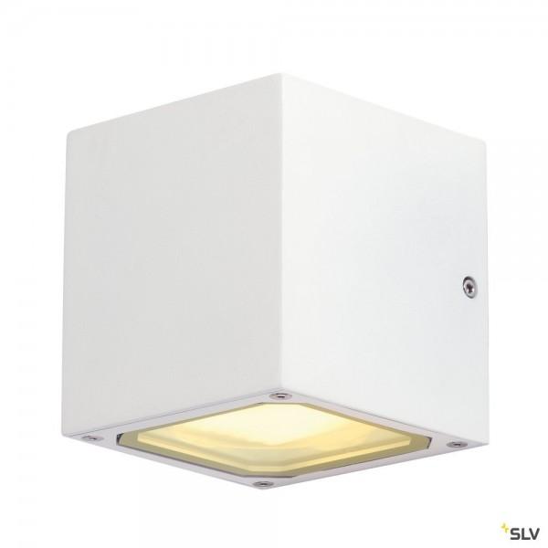 SLV 232531 Sitra Cube, Wandleuchte, weiß, up&down, IP44, GX53, max.2x9W