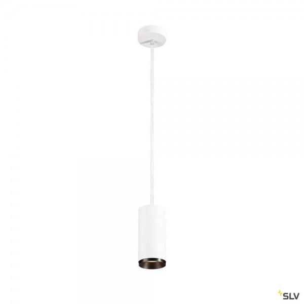 SLV 1004542 Numinos M, Pendelleuchte, weiß/schwarz, dimmbar Dali, LED, 20,1W, 3000K, 1955lm, 24°