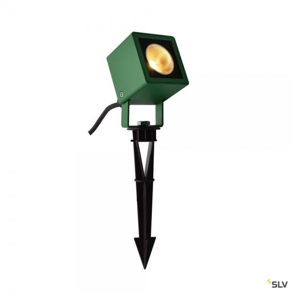 SLV 1001938 Nautilus 10, Spiessleuchte, grün, mit Netzstecker, IP65, LED, 8,5W, 3000K, 620lm