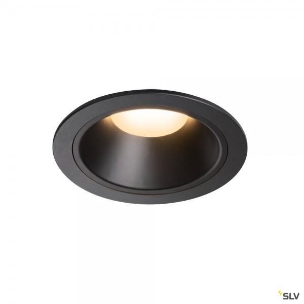 SLV 1004015 Numinos XL, Deckeneinbauleuchte, schwarz, LED, 37,4W, 3000K, 3300lm, 55°