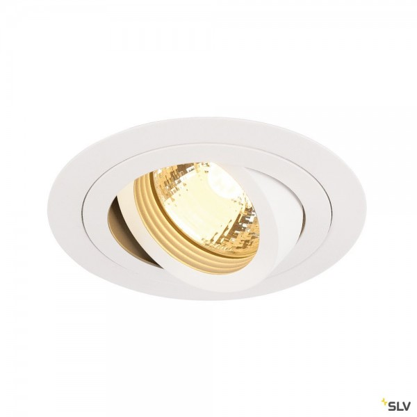 SLV 113510 New Tria 1, Deckeneinbauleuchte, weiß, QPAR51, GU10, max.50W