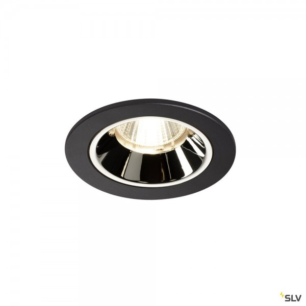 SLV 1003822 Numinos S, Deckeneinbauleuchte, schwarz/chrom, LED, 8,6W, 4000K, 750lm, 40°