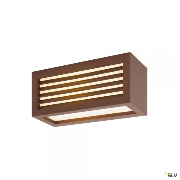 SLV 1002036 Box-L, Wandleuchte, rost, up&down, IP44, LED, 19W, 3000K, 480lm