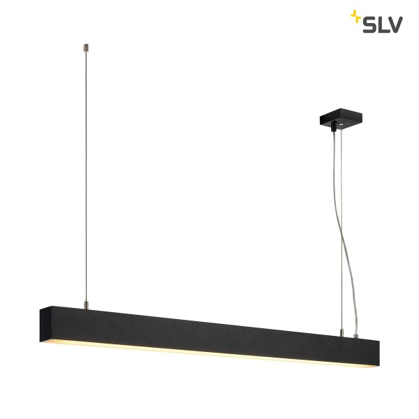 SLV 1001400 Glenos, Pendelleuchte, schwarz matt, dimmbar 1-10V, LED, 43W, 3000K, 2850lm