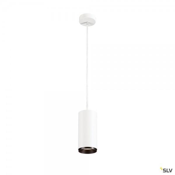 SLV 1004359 Numinos L, Pendelleuchte, weiß/schwarz, dimmbar C, LED, 28W, 4000K, 2620lm, 36°