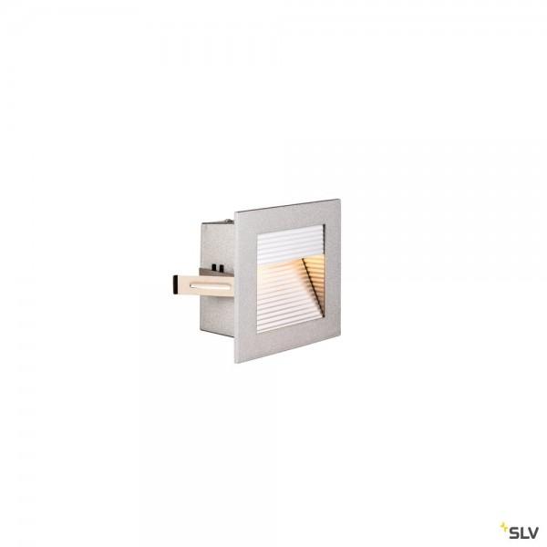 SLV 1000575 Frame Curve, Wandeinbauleuchte, silbergrau, LED, 3,1W, 2700K, 100lm