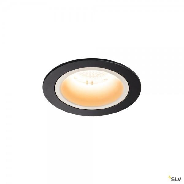 SLV 1003845 Numinos M, Deckeneinbauleuchte, schwarz/weiß, LED, 17,55W, 2700K, 1600lm, 40°