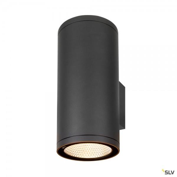 SLV 1003441 Enola Round L, Wandleuchte, anthrazit, up&down, IP65, LED, 53W, 3000K/4000K, 9000lm