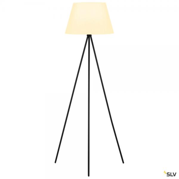 SLV 155490 + 156181 Fenda, Stehleuchte, schwarz/weiß, Ø45,5cm, E27, max.40W