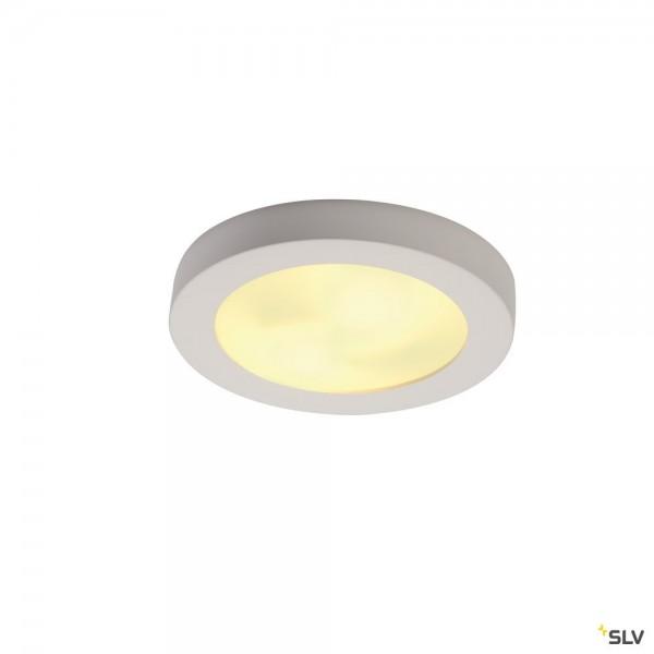 SLV 148001 Plastra 105, Gipsleuchte, weiß, E27, max.2x25W