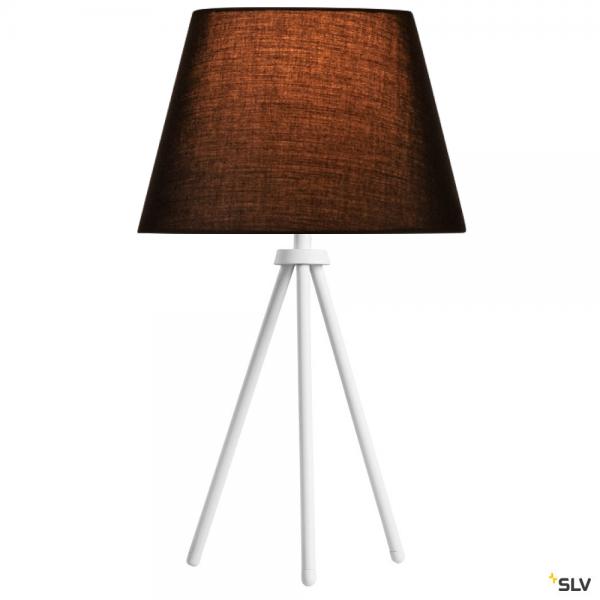 SLV 1003032 + 156160 Fenda, Tischleuchte, weiß/schwarz, Ø30cm, E27, max.40W
