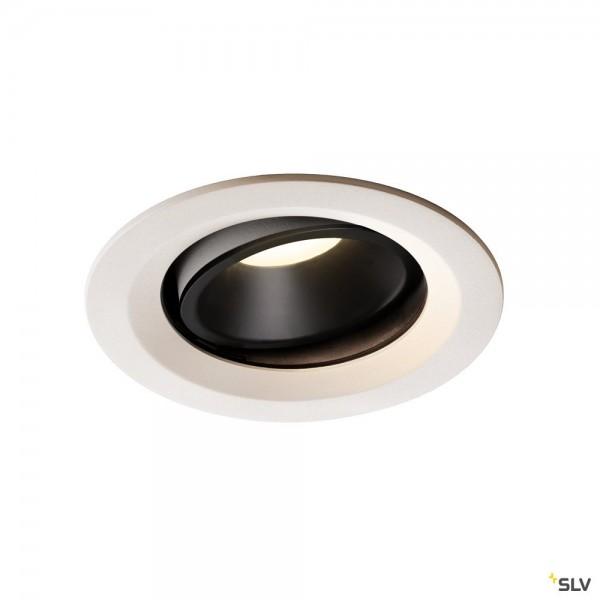 SLV 1003613 Numinos Move M, Deckeneinbauleuchte, weiß/schwarz, LED, 17,55W, 4000K, 1600lm, 20°