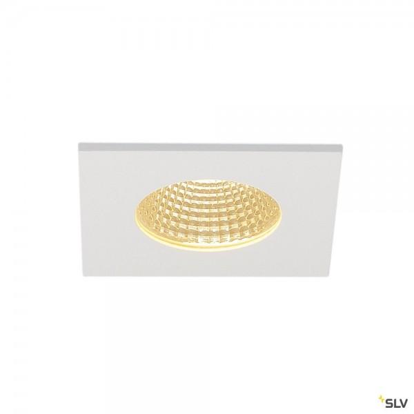 SLV 114431 Patta-I, Einbauleuchte, weiß matt, IP65, dimmbar Triac C+L, LED, 12W, 3000K, 910lm
