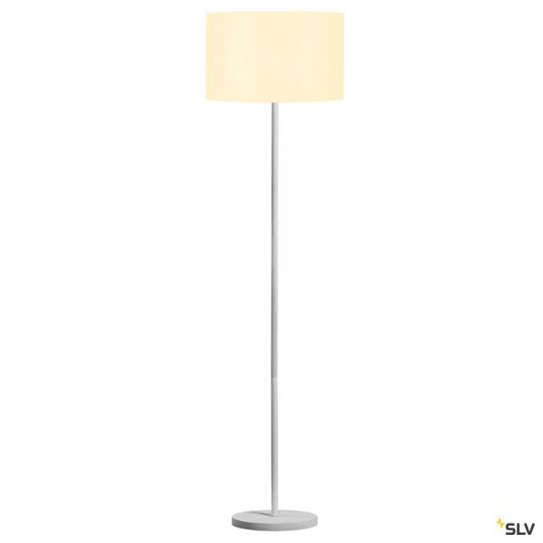 SLV 1003031 + 156111 Fenda, Stehleuchte, weiß, Ø45,5cm, E27, max.60W