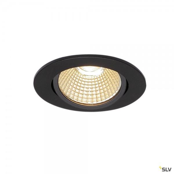 SLV 114380 New Tria 68, Einbauleuchte, schwarz matt, dimmbar Triac C+L, LED, 11W, 3000K, 890lm