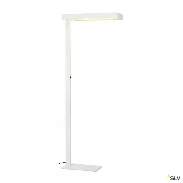 SLV 1002847 Worklight Plus, Stehleuchte, weiß, dimmbar Dali, LED, 3000K, 5400lm