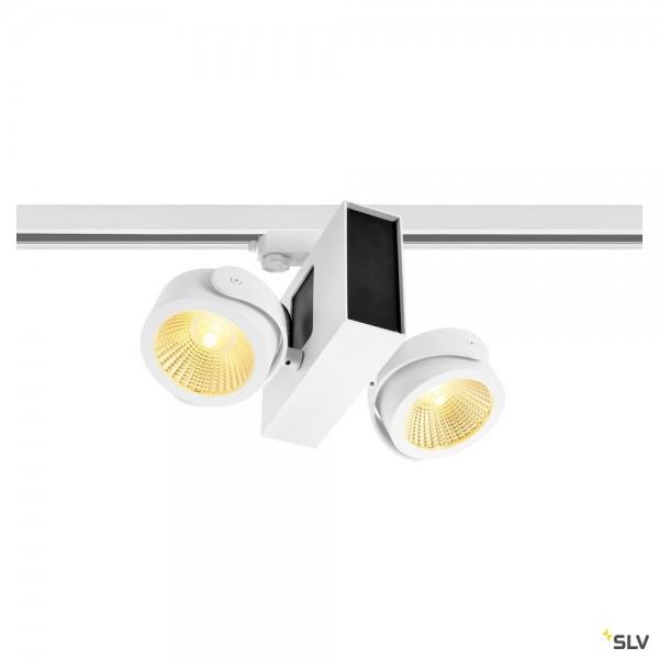 SLV 1001428 Tec Kalu 2, 3Phasen, Strahler, weiß, dimmbar Triac C, LED, 31W, 3000K, 1900lm, 24°