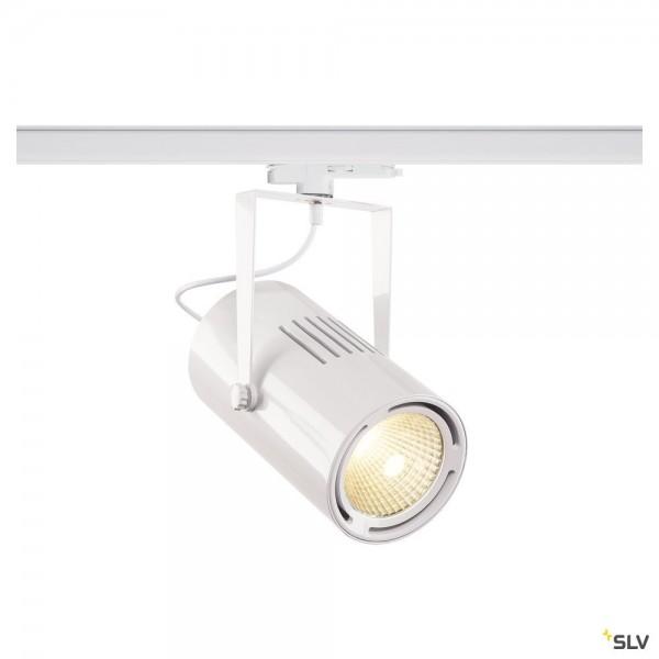 SLV 1002666 Euro Spot, 3Phasen, Strahler, weiß, dimmbar Dali, LED, 47W, 4000K, 4800lm, 40°