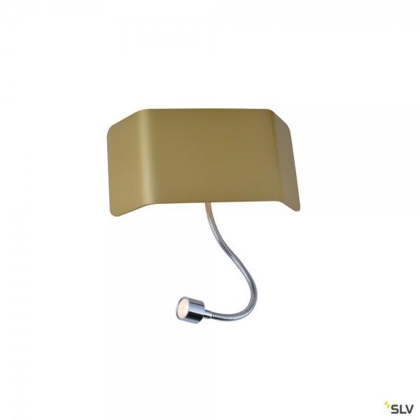 SLV 1000615 + 1000630 Mana 200, Wandleuchte, gold, Schalter, up&down, LED, 11W, 3000K, 490lm