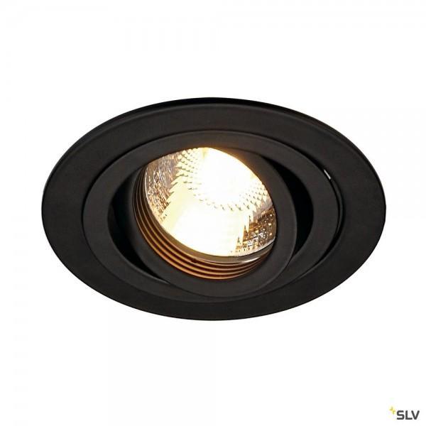 SLV 113490 New Tria 1, Deckeneinbauleuchte, schwarz, QPAR51, GU10, max.50W