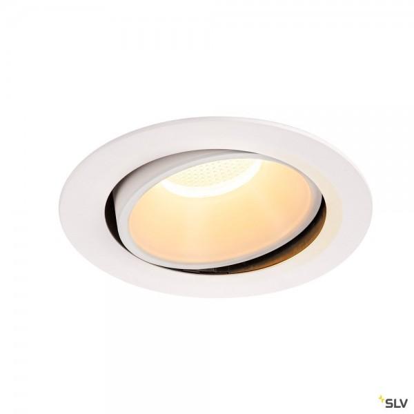 SLV 1003737 Numinos Move XL, Deckeneinbauleuchte, weiß, LED, 37,4W, 3000K, 3550lm, 40°